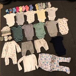baby boy newbown clothes lot
